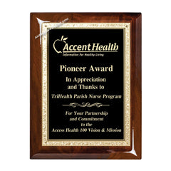 WF250 walnut recognition award plaque - American Trophy & Award Co. - Los Angeles, CA 90012