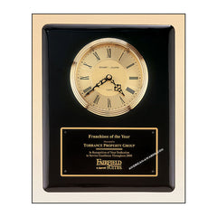 BC55 Ebony Piano-finish Clock Plaque - American Trophy & Award Company - Los Angeles, CA 90022
