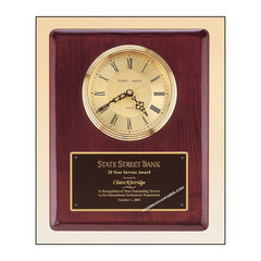 BC68 Rosewood Piano-finish Clock Plaque - American Trophy & Award Company - Los Angeles, CA 90022