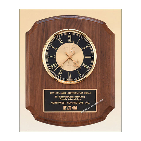 BC828 Walnut Quartz Wall Clock