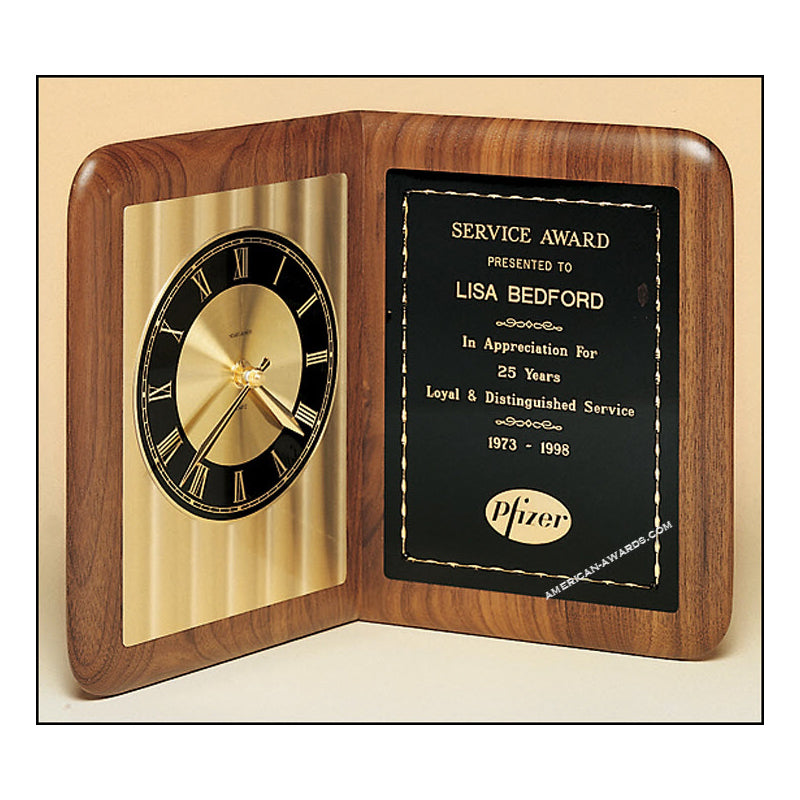 BC95 Walnut Quartz Clock