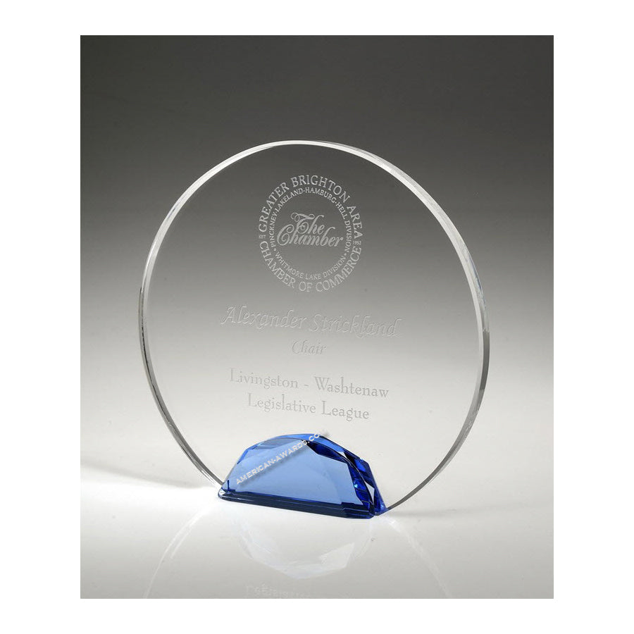 OCJH06 Optic Crystal Jeweled Halo Award - American Trophy & Award Company - Los Angeles, CA 90022