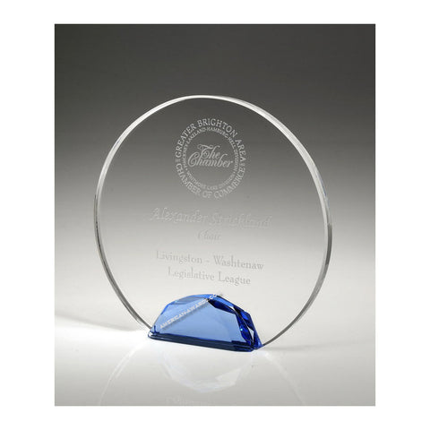 Jeweled Halo Crystal Award | Style OCJH06