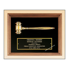 PG2440 Parliament Series Walnut Gavel Plaque - American Trophy & Award Company - Los Angeles, CA 90022
