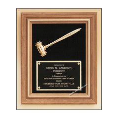 PG2442 Parliament Series Walnut Gavel Plaque - American Trophy & Award Company - Los Angeles, CA 90022