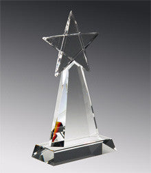 E2955 Stardom Optic Crystal Award-American Trophy & Award Company-Los Angeles-CA
