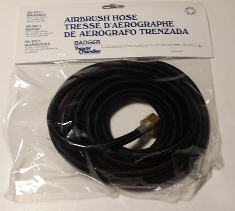"Badger Air Brush 10 foot braided hose 1/4"" female pipe"