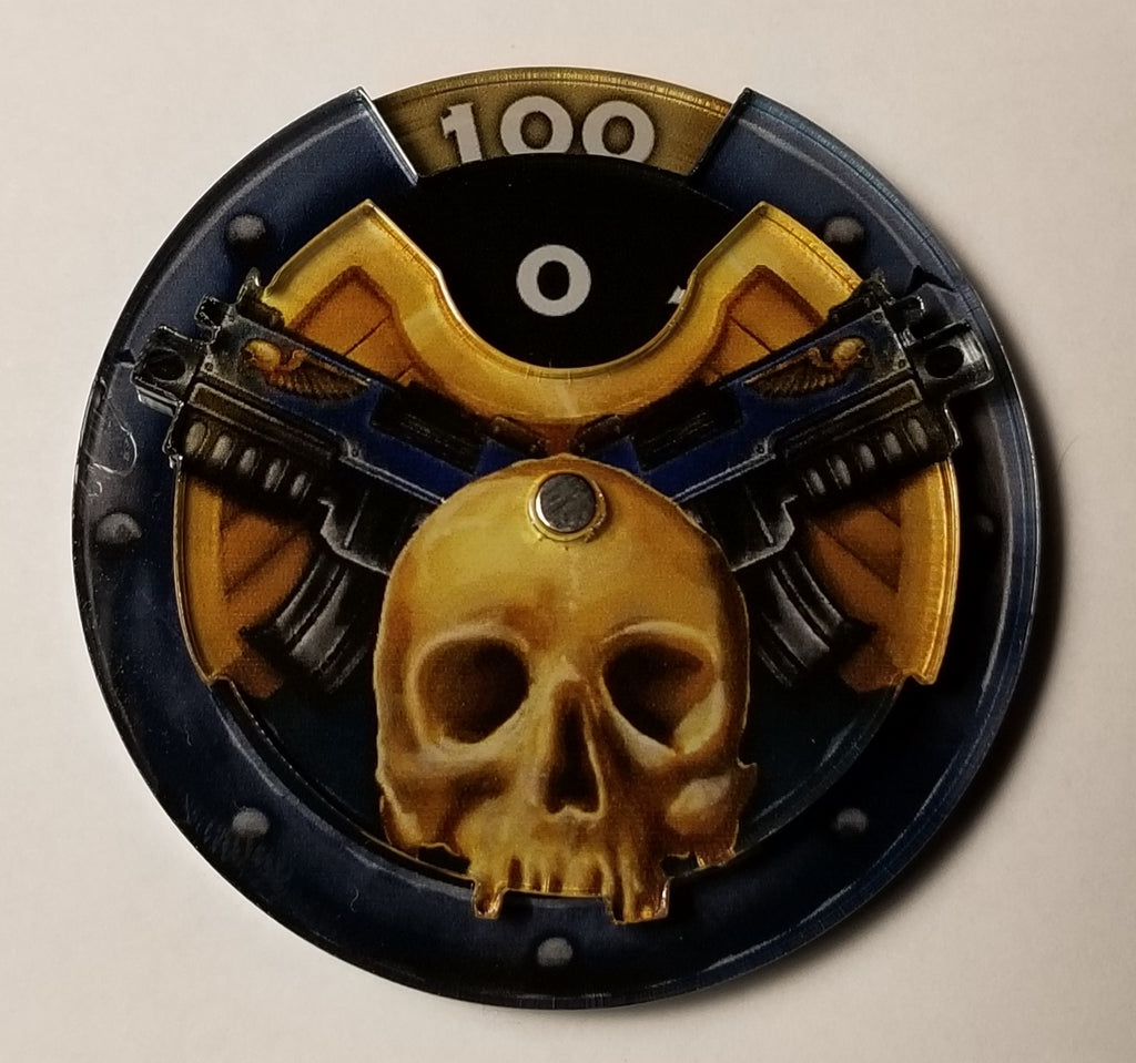 Wound counter Skull Gun dial 50mm Adepticon exclusive