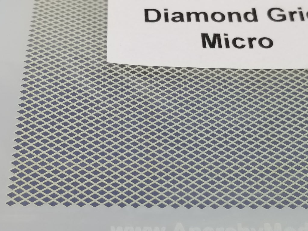 Airbrush Stencil Diamond Grid Micro