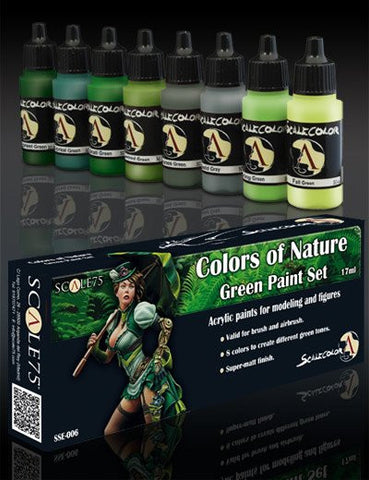 Scale75 Scalecolor Colors of Nature Green paint set