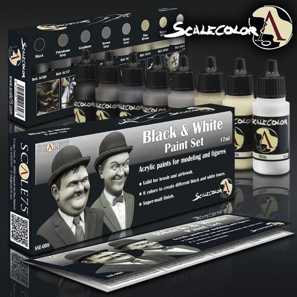 Scale75 Scalecolor Black and White paint set
