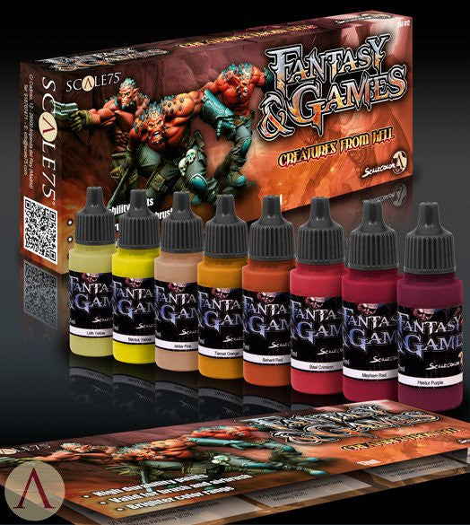 Scale75 Creatures from Hell paint set