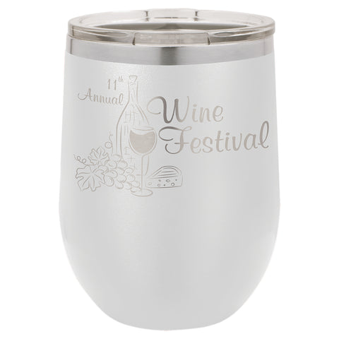 12oz. Stemless Wine Glass w/lid - Rare Breed Apparel