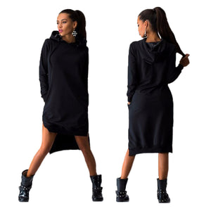 Pullover Dress Hoodie-Rare Breed Apparel - black