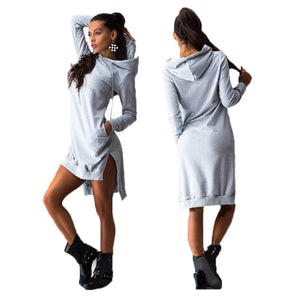 Pullover Dress Hoodie-Rare Breed Apparel - grey