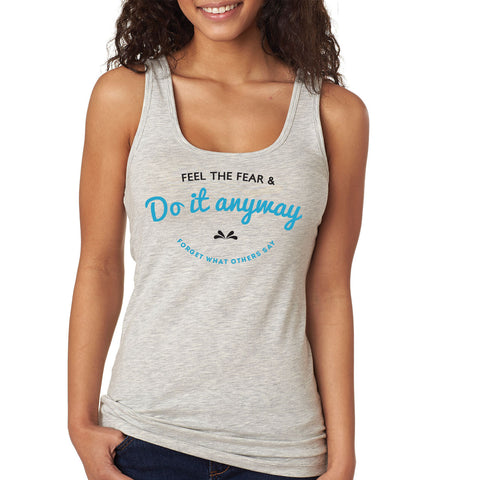Feel the Fear Racerback Tank Top - Rare Breed Apparel