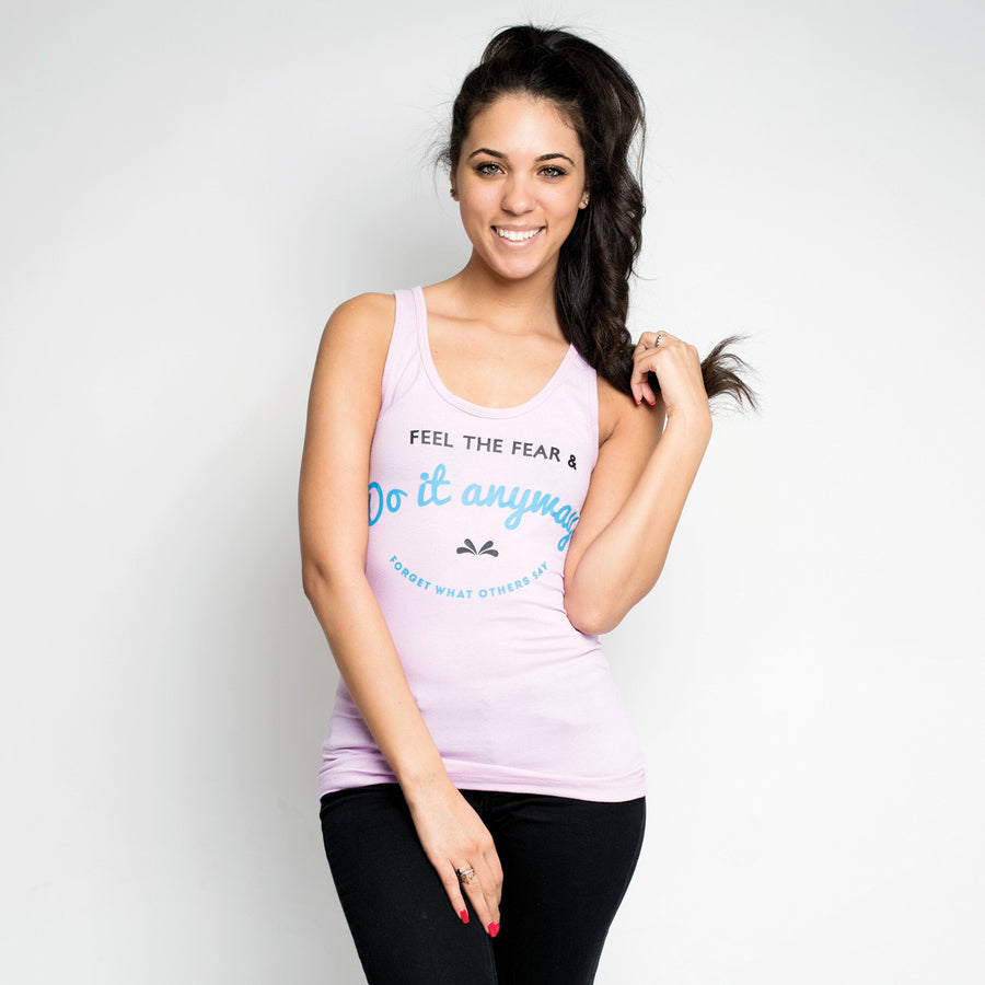 Feel the Fear Tank Top - Rare Breed Apparel-hot pink