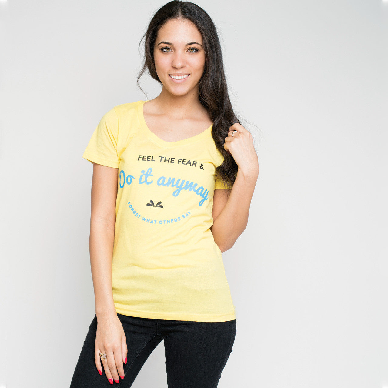 Feel the Fear Featherweight Scoop Tee