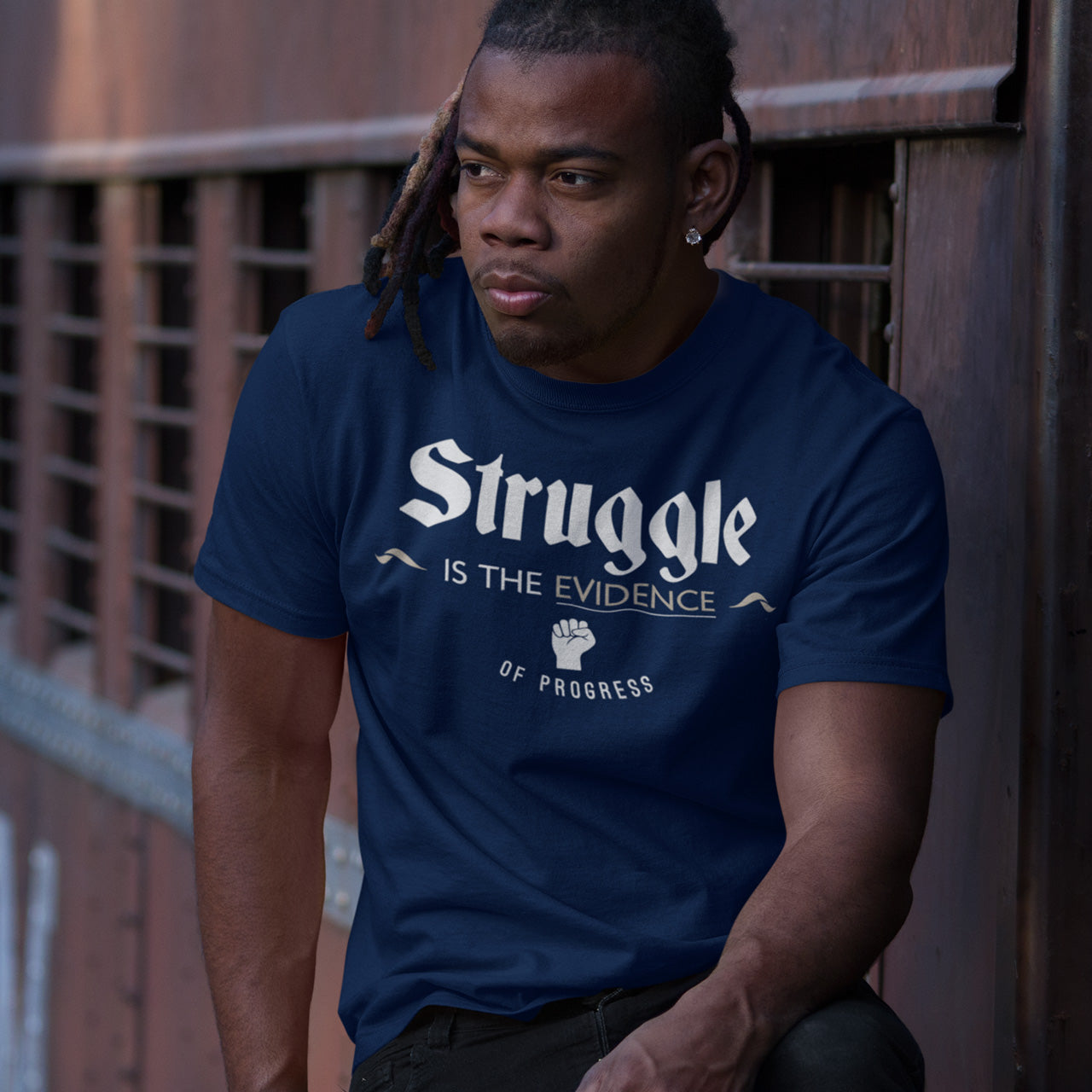 Struggle is the Evidence of Progress Semi-Fitted T-Shirt