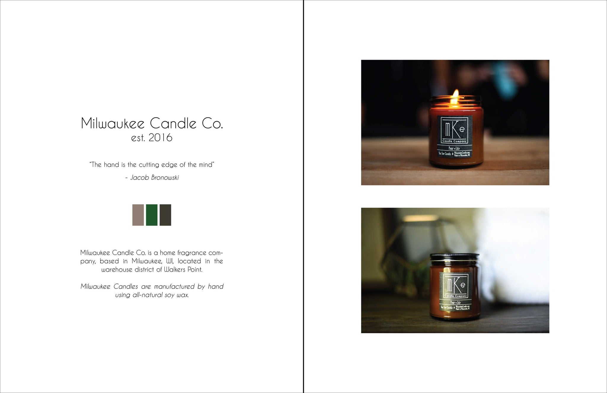 Milwaukee Candle Co. Look Book - 2