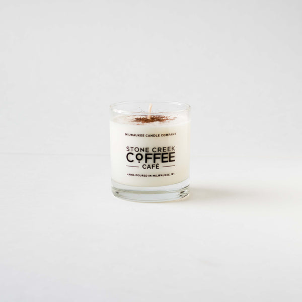 STONE CREEK COFFEE MILWAUKEE CANDLE CO SOY CANDLE