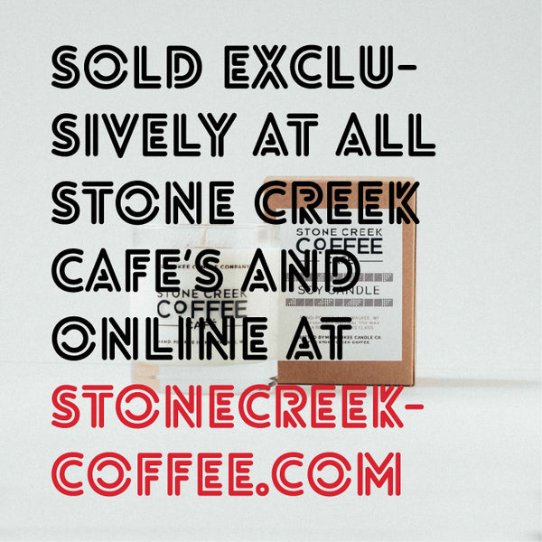 stone creek coffee soy candle Milwaukee candle company