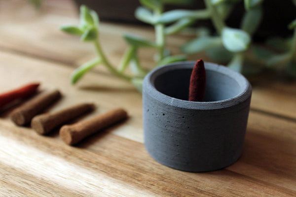 Concrete Cup Burner - Charcoal