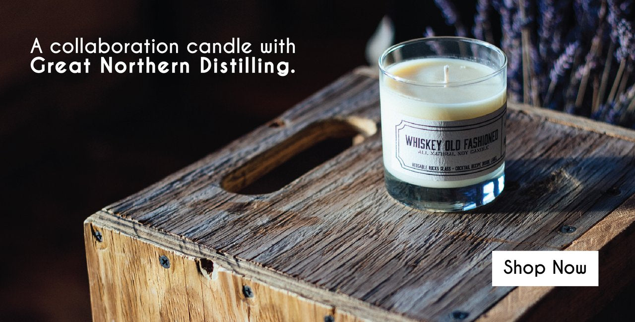 Great Northern Distilling Whiskey Old Fashioned Milwaukee Candle Soy Wax Candle