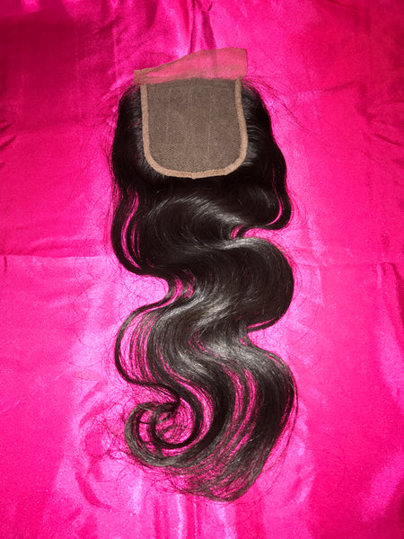 Brazilian Lace Closure (Body Wave or Straight)