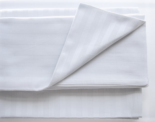 Stripe Sateen Sheet Set - Moon Rock