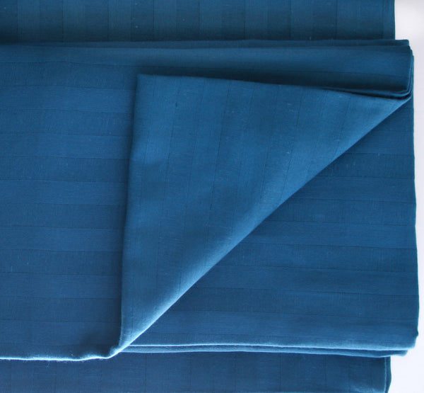 Stripe Sateen Sheet Set - Moroccan Blue