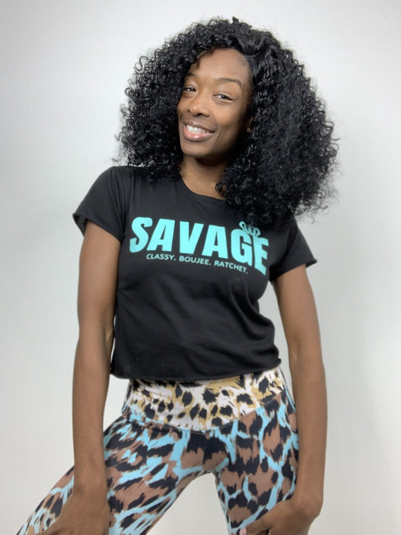 Savage Cali Crop Tank Black
