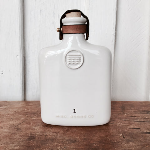 CERAMIC FLASK - WHITE