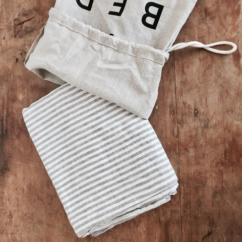STRIPED LINEN PILLOW CASES