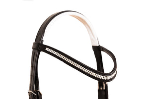 Stylish black & white bridle Finley