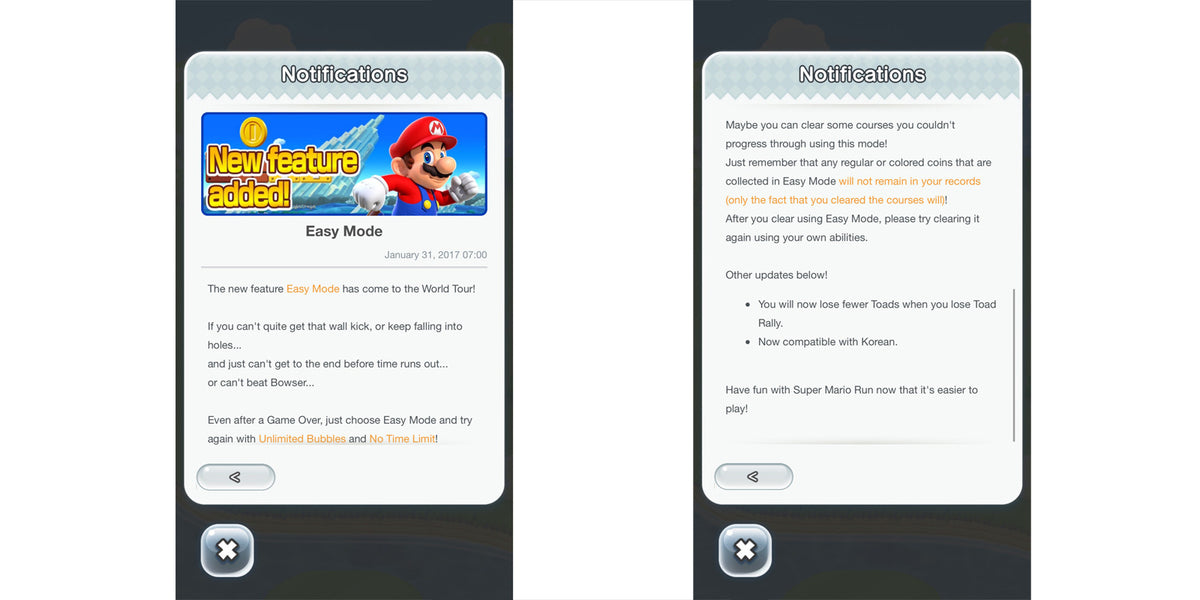 'Super Mario Run' Update Brings New Easy Mode and Adjustments to Toad Rally