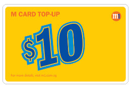 M1 $10 Top-up Card - Mobile Life