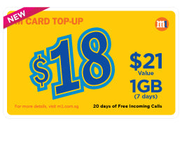 M1 $18 Top-up Card - Mobile Life