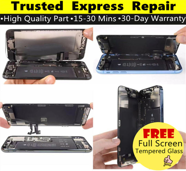 iPhone Repair [Screen Replacement] [Glass Replacement] [LCD Replacement] Express Repair using Premium Quality Parts