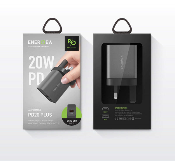 ENERGEA AmpCharge PD20+ UK Wall Charger Adapters