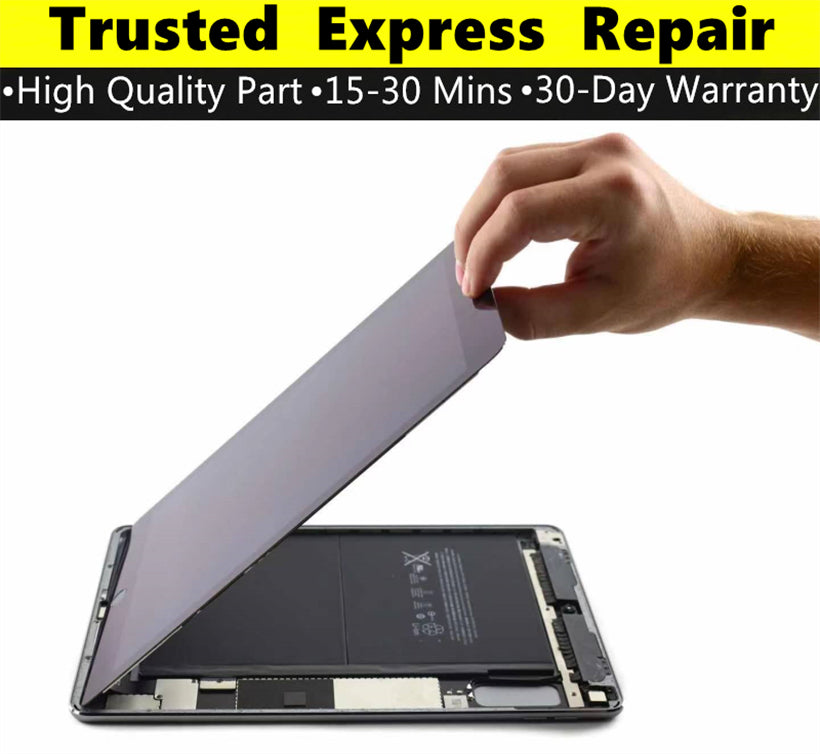iPad Air 2 [Screen Glass Replacement][LCD Replacement][Original LCD Replacement] Express Repair using Premium Quality Parts