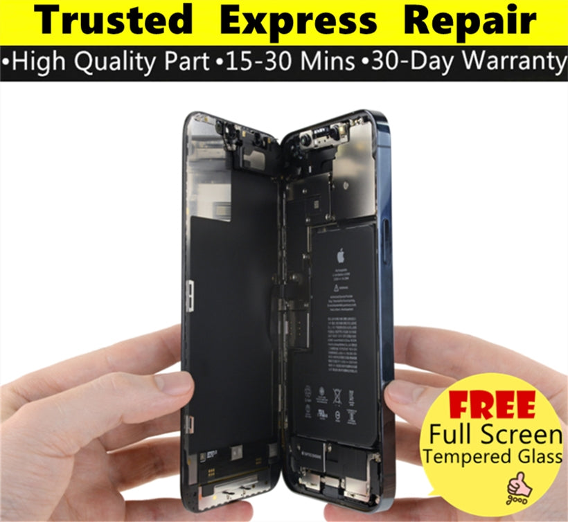 iPhone 12 Pro Max [Screen Glass Replacement][In-Cell Enhanced TFT LCD Replacement][Hard O-LED LCD Replacement][Original LCD Replacement] Express Repair using Premium Quality Parts