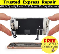 iPhone 8 [Screen Glass Replacement][Enhanced TFT LCD Replacement][Gamut True Tone TFT LCD][Original LCD Replacement] Express Repair using Premium Quality Parts