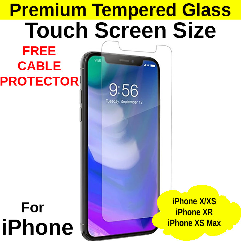 Touch Screen Size Tempered Glass Protector iPhone X/XS/XR/XS Max - Mobile Life