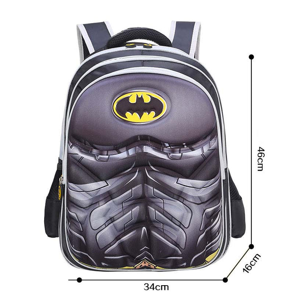 Batman Kids School Book Backpack Bag