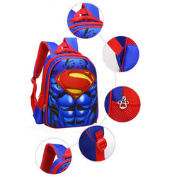 Superman Kids School Book Backpack Bag