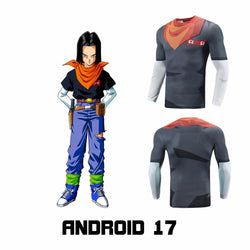 Android 17 Compression Fitted Long Sleeve T-Shirt
