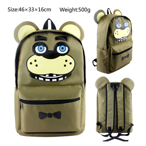 Freddy Fazbear Five Nights at Freddy's School Book Backpack Bag
