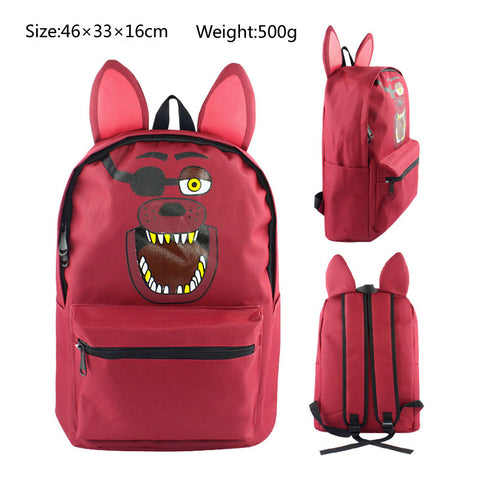 Foxy Five Nights at Freddy's School Book Backpack Bag