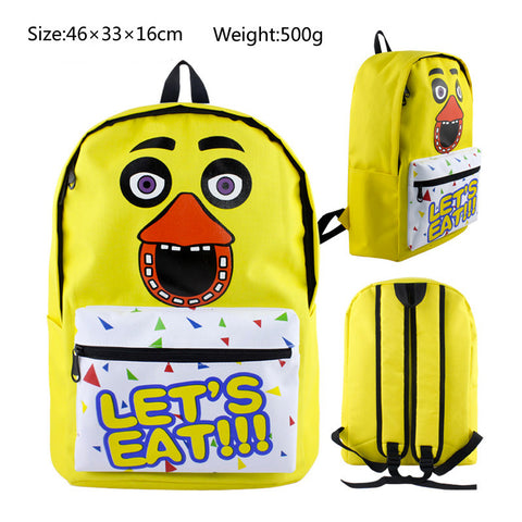 Chica Five Nights at Freddy's School Book Backpack Bag